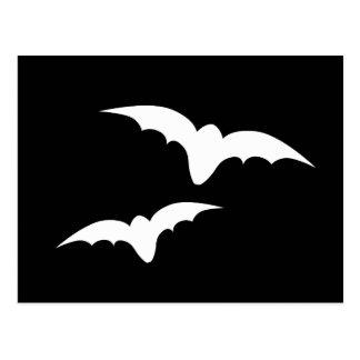 Two bats postcard