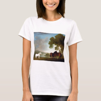 Two Bay Mares And a Grey Pony In a Landscape T-Shirt