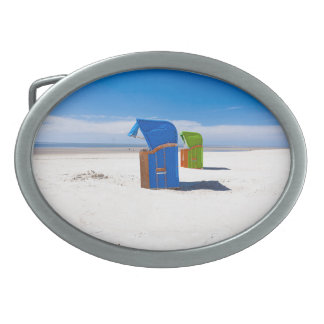 Two beach chairs at the North Sea Belt Buckle