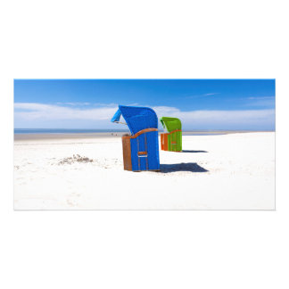 Two beach chairs at the North Sea Card