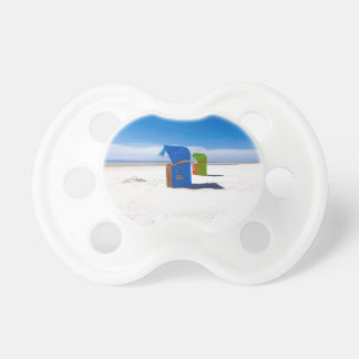 Two beach chairs at the North Sea Pacifier