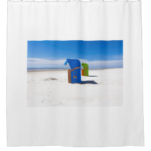 Two Beach Chairs At The North Sea Shower Curtain