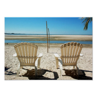 Two Beach Chairs Poster