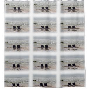 Two Beach Chairs Shower Curtain