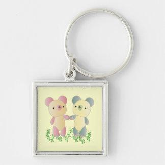 Two Bears Key Chain