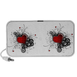 Two Beating Musical Hearts Portable Speaker