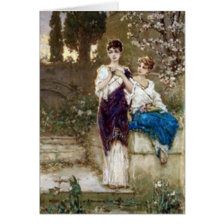 Two Beauties - Wilhelm Kotarbinski Card