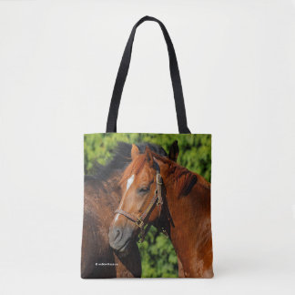 Two Beautiful Chestnut Horses in the Sun Tote Bag