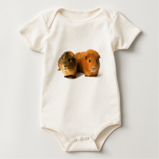 two beautiful guinea pig baby bodysuit