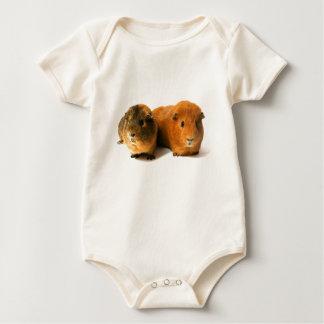 two beautiful guinea pig baby bodysuit