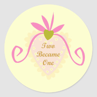 Two Became One T-shirts and Gifts Classic Round Sticker