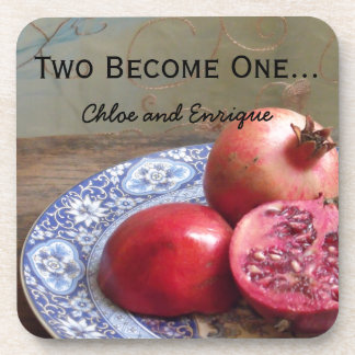 Two Become One Personalized Wedding Beverage Coaster