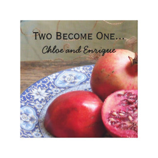 Two Become One Personalized Wedding Canvas Print