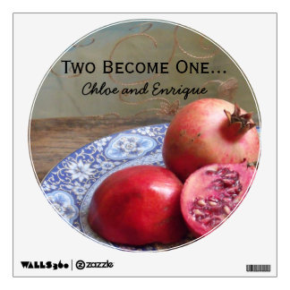 Two Become One Personalized Wedding Wall Decal