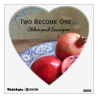 Two Become One Personalized Wedding Wall Sticker