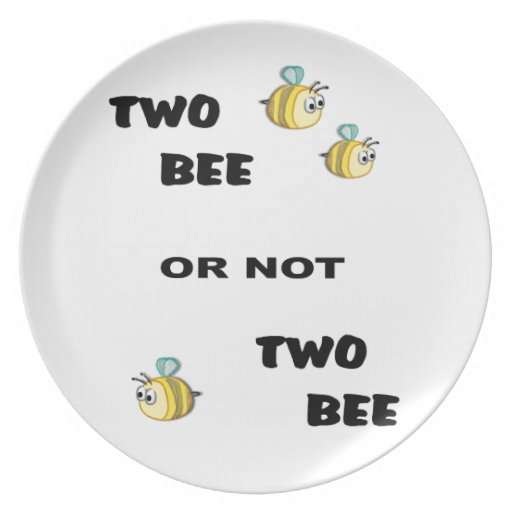 Two Bee or not Two Bee Party Plate