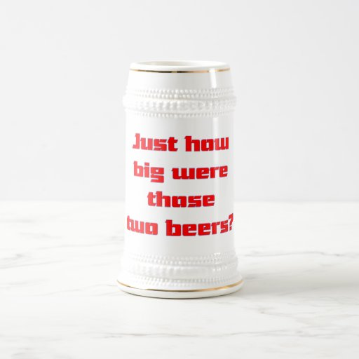 Two Beers Beer Stein