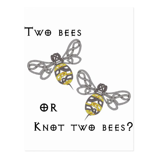 Two Bees Postcard