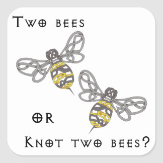 Two Bees Square Sticker