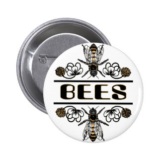 two bees with clover trans1 button