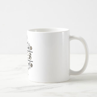 two bees with clover trans1 coffee mug