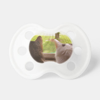 Two BFF Cats Gazing Out of The Window Pacifier