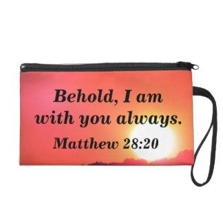Two Bible Verses Wristlet Purse