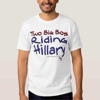 Two Big Boys Riding Hillary T-Shirt
