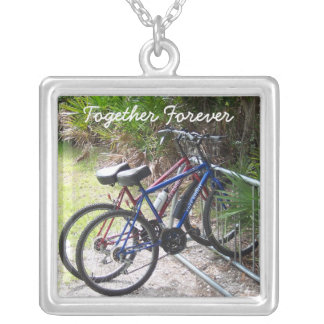Two Bikes in a Rack Necklace