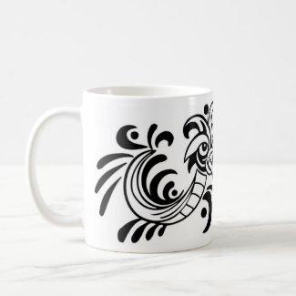 Two Bird Black and White Design mug