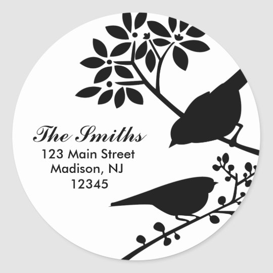 Two Birds Address Labels
