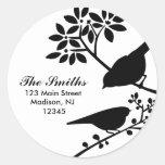 Two Birds Address Labels Classic Round Sticker