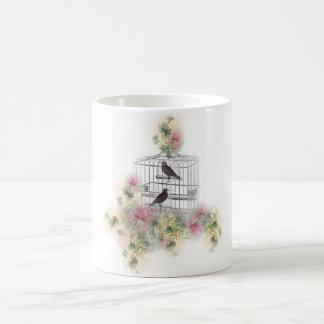 Two bird's birdcage coffee mug