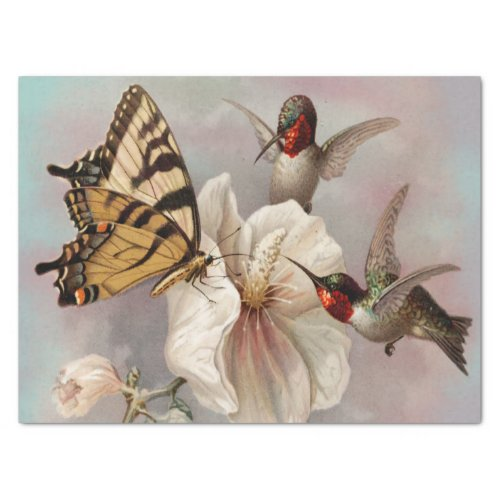 Two birds & Butterfly Shabby Chic Decoupage Tissue Paper