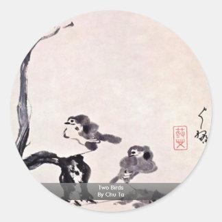 Two Birds By Chu Ta Stickers