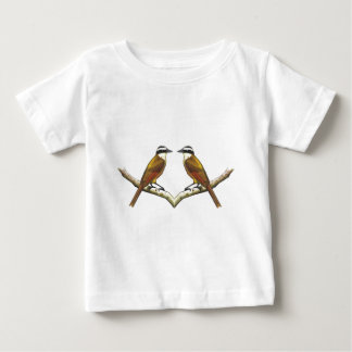 Two Birds Facing: Kiskadees in Color Pencil Baby T-Shirt
