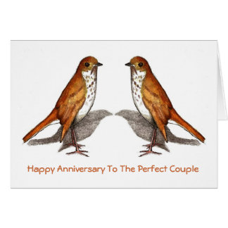 Two Birds: Happy Anniversary: Perfect Couple: Art Card