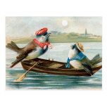 """""""Two Birds in a Boat"""" Post Cards"""