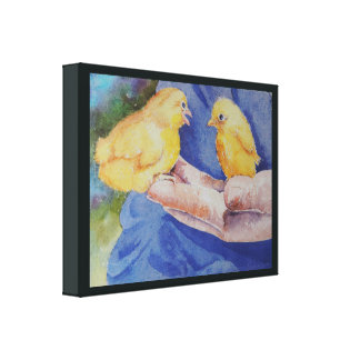 Two Birds in Hand Canvas Print