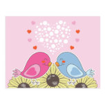 Two Birds in Love Post Card