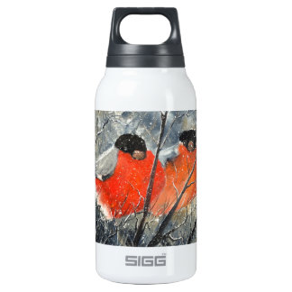 Two birds insulated water bottle