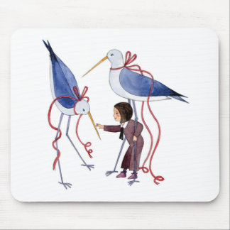 Two birds mouse pad