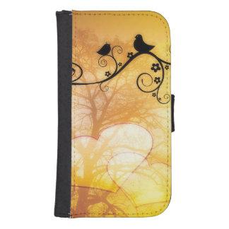 Two birds resting in a tree Galaxy S4 Wallet Case