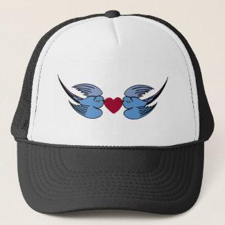 Two birds trucker cap