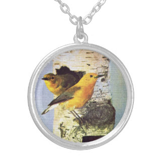 Two Birds Watching You Pendant