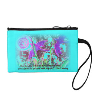 Two Birds with Baha'i Quote Change Purse