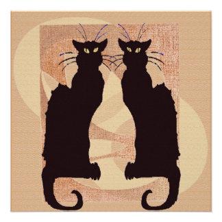 Two Black Cats Invitation