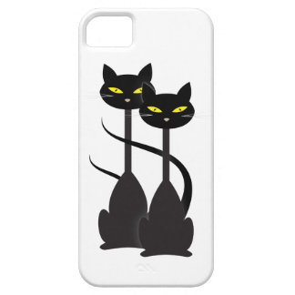 Two Black Cats iPhone SE/5/5s Case
