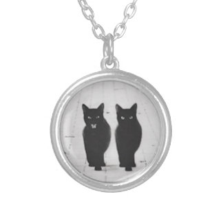 Two Black Cats Necklace