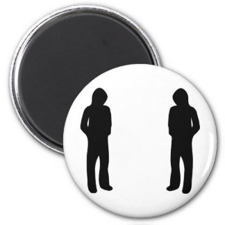two black cool guys icon fridge magnets